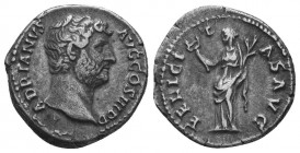 Hadrianus (117-138 AD). AR Denarius  Condition: Very Fine  Weight: 3.30 gr Diameter: 18 mm