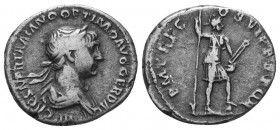 TRAJAN (98-117). Denarius.  Condition: Very Fine  Weight: 3.10 gr Diameter: 18 mm