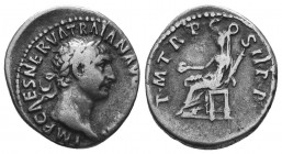 TRAJAN (98-117). Denarius.  Condition: Very Fine  Weight: 3.20 gr Diameter: 18 mm