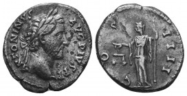 Antoninus Pius, 138-161. Denarius  Condition: Very Fine  Weight: 3.30 gr Diameter: 17 mm