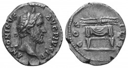 Antoninus Pius, 138-161. Denarius  Condition: Very Fine  Weight: 3.00 gr Diameter: 19 mm