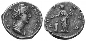 Diva Faustina I (+141 AD). AR Denarius   Condition: Very Fine  Weight: 3.30 gr Diameter: 16 mm