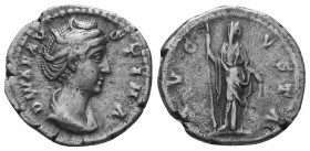 Diva Faustina I (+141 AD). AR Denarius   Condition: Very Fine  Weight: 3.20 gr Diameter: 19 mm
