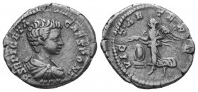 Geta Caesar AR Denarius,   Condition: Very Fine  Weight: 3.00 gr Diameter: 17 mm