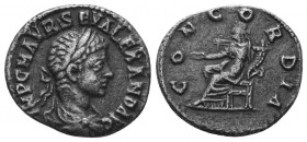 Severus Alexander, 222-235. Denarius  Condition: Very Fine  Weight: 2.60 gr Diameter: 18 mm