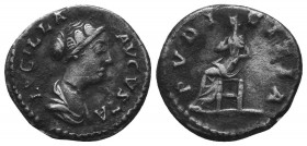 Diva Faustina II AR Denarius. Rome, AD 176-180.  Condition: Very Fine  Weight: 2.70 gr Diameter: 18 mm