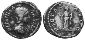 Plautilla, 202-205. Denarius  Condition: Very Fine  Weight: 3.30 gr Diameter: 18 mm