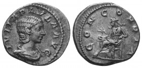 JULIA PAULA (219 - 220) Denarius, Ar  Condition: Very Fine  Weight: 3.40 gr Diameter: 19 mm
