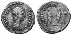 Plautilla, 202-205. Denarius  Condition: Very Fine  Weight: 3.10 gr Diameter: 18 mm