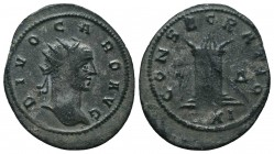 Carus, Divus. Antoninianus. Died 283 AD.   Condition: Very Fine  Weight: 2.50 gr Diameter: 21 mm