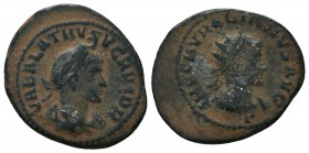 Vabalathus and Aurelian Silvered Æ Antoninianus. Antioch, AD 270-275.   Condition: Very Fine  Weight: 4.50 gr Diameter: 20 mm