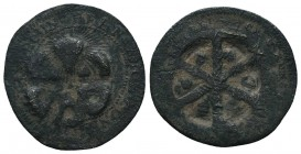 Crusaders Ae, 1101-1112. AE Follis  Condition: Very Fine  Weight: 1.20 gr Diameter: 22 mm