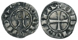 Crusaders Ar, 1101-1112. Bohemon III Denier,   Condition: Very Fine  Weight: 0.90 gr Diameter: 17 mm