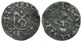 Crusaders Ar, 1101-1112. Denier,  Condition: Very Fine  Weight: 0.60 gr Diameter: 17 mm