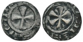 Crusaders Ar, 1101-1112. Denier,  Condition: Very Fine  Weight: 0.90 gr Diameter: 18 mm
