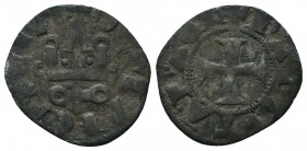 Crusaders Ar, 1101-1112. Denier,  Condition: Very Fine  Weight: 0.80 gr Diameter: 18 mm