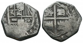 Medieval Europe, Mexico, Spanish Empire. Philip IV AR  Condition: Very Fine  Weight: 6.80 gr Diameter: 20 mm