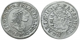 Medieval Europe, Leopold . 1657-1705. AR  Condition: Very Fine  Weight: 2.70 gr Diameter: 26 mm