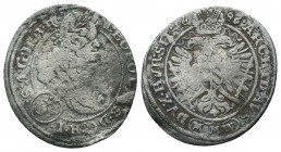 Medieval Europe, Leopold . 1657-1705. AR  Condition: Very Fine  Weight: 1.30 gr Diameter: 22 mm