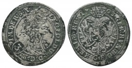 Medieval Europe, Leopold . 1657-1705. AR  Condition: Very Fine  Weight: 1.50 gr Diameter: 28 mm