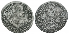 Medieval Europe, Leopold . 1657-1705. AR  Condition: Very Fine  Weight: 1.70 gr Diameter: 22 mm