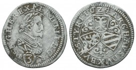Medieval Europe, SAINT EMPIRE, Ferdinand II (1619-1637), AR  Condition: Very Fine  Weight: 1.40 gr Diameter: 22 mm