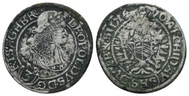 Medieval Europe, Leopold . 1657-1705. AR  Condition: Very Fine  Weight: 1.50 gr Diameter: 21 mm