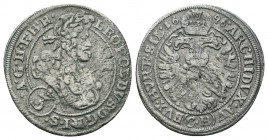 Medieval Europe, Leopold . 1657-1705. AR  Condition: Very Fine  Weight: 1.40 gr Diameter: 22 mm