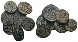 Islamic Coins Ae, Lot of 7 coins  Condition: Very Fine  Weight: lot gr Diameter: mm