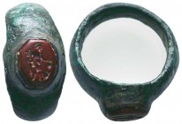 Very Important and elegant Roman Seal Ring, c. 1st-4th century AD. Beautiful Seal Ring with figure on red stone !  Condition: Very Fine  Weight: 8.50 ...