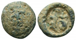 Roman conical lead seal with a depiction of serpants (?) (ca 1st/2nd cent.)