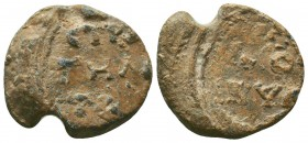 Byzantine lead seal of N. Stratelates (6th/7th cent.)