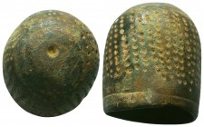 Medieval/Crusades Europe, c. 9th-14th century AD. Bronze Thimble,