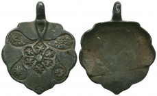Medieval/Crusades Europe, c. 9th-14th century AD. Decorated Silver Pendant