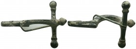 Ancient Roman Fibula, 1st - 2nd Century AD. 