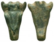 Ancient Roman Bull head pendant, 1st - 2nd Century AD.