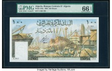 Algeria Banque Centrale d'Algerie 100 Dinars 1964 Pick 125a PMG Gem Uncirculated 66 EPQ.   HID09801242017  © 2020 Heritage Auctions | All Rights Reser...