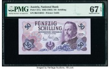 Austria Austrian National Bank 50 Schilling 2.7.1962 (1963) Pick 137a PMG Superb Gem Unc 67 EPQ.   HID09801242017  © 2020 Heritage Auctions | All Righ...