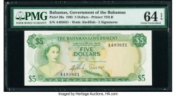 Bahamas Bahamas Government 5 Dollars 1965 Pick 20a PMG Choice Uncirculated 64 EPQ.   HID09801242017  © 2020 Heritage Auctions | All Rights Reserve