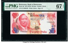Botswana Bank of Botswana 20 Pula ND (1979) Pick 5b PMG Superb Gem Unc 67 EPQ. Serial number 160.  HID09801242017  © 2020 Heritage Auctions | All Righ...