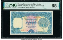 Burma Government of Burma 10 Rupees ND (1949) Pick 36 PMG Gem Uncirculated 65 EPQ.   HID09801242017  © 2020 Heritage Auctions | All Rights Reserve