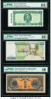 Burma Peoples Bank; Union of Burma Bank 5; 90 Kyats ND (1965); ND (1987) Pick 53; 66 Two Examples PMG Choice Uncirculated 64 EPQ; Gem Uncirculated 66 ...