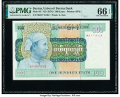 Burma Union of Burma Bank 100 Kyats ND (1976) Pick 61 PMG Gem Uncirculated 66 EPQ.   HID09801242017  © 2020 Heritage Auctions | All Rights Reserve
