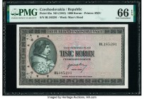 Czechoslovakia Republic of Czechoslovakia 1000 Korun ND (1945) Pick 65a PMG Gem Uncirculated 66 EPQ.   HID09801242017  © 2020 Heritage Auctions | All ...