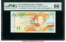 East Caribbean States Central Bank, Dominica 50 Dollars ND (1994) Pick 34d PMG Gem Uncirculated 66 EPQ.   HID09801242017  © 2020 Heritage Auctions | A...