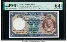 Egypt National Bank of Egypt 1 Pound 17.3.1942 Pick 22c PMG Choice Uncirculated 64 EPQ.   HID09801242017  © 2020 Heritage Auctions | All Rights Reserv...