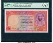 Egypt National Bank of Egypt 10 Pounds 1952-60 Pick 32 PMG Superb Gem Unc 67 EPQ.   HID09801242017  © 2020 Heritage Auctions | All Rights Reserve