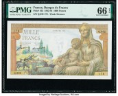 France Banque de France 1000 Francs 13.8.1942 Pick 102 PMG Gem Uncirculated 66 EPQ.   HID09801242017  © 2020 Heritage Auctions | All Rights Reserve