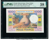 French Afars & Issas Tresor Public 1000 Francs ND (1974) Pick 32 PMG Choice About Unc 58. Staple holes.  HID09801242017  © 2020 Heritage Auctions | Al...