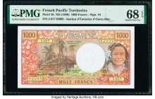 French Pacific Territories Institut d'Emission d'Outre Mer 1000 Francs ND (1996) Pick 2b PMG Superb Gem Unc 68 EPQ.   HID09801242017  © 2020 Heritage ...